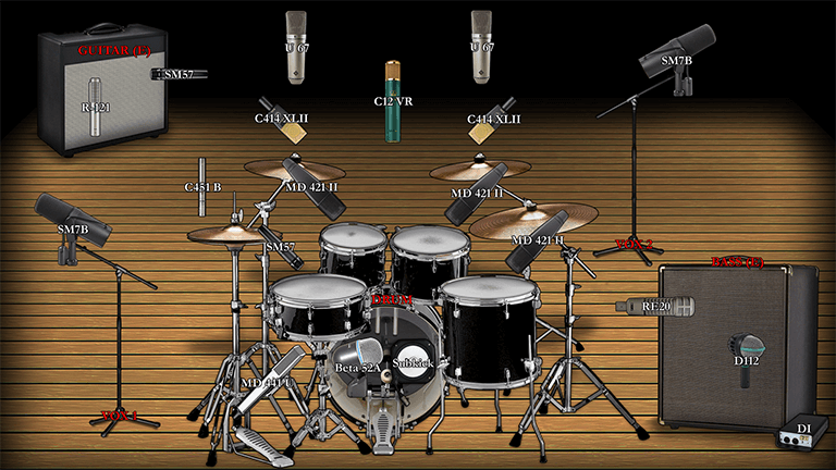 Export images of the instrument tables and microphone placements